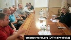 Встреча Москальковой и керченских моряков, Киев, 26 июня 2018 года