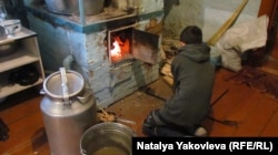 The family relies on a traditional Russian stove to keep the cold Siberian winter at bay.