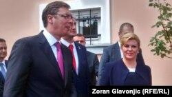 Pamje nga një takim i mëparshëm i presidentes kroate, Kolinda Grabar-Kitaroviq, me presidentin e Serbisë, Aleksandar Vuçiq