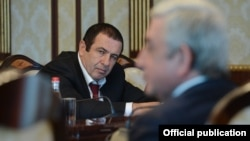 Armenia - Businessman Gagik Tsarukian attends a meeting between President Serzh Sarkisian and Armenian parliament leaders in Yerevan, 12Jan2018.
