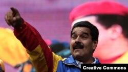 Николас Мадуро на митинге PSUV