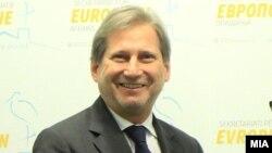 Еврокомесарот за проширување и соседска политика Јоханес Хан