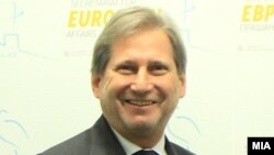 Еврокомесарот Јоханес Хан.