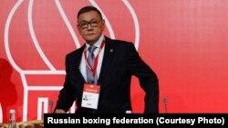 Gafur Rahimow AIBA-nyň Moskwada geçirilen kongresinde.