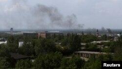 Дим із Донецького аеропорту, 26 травня 2014 року