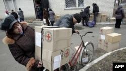 Авдіївка, 2 березня 2015 року: Червоний Хрест доставив гуманітарну допомогу