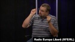 Istoricul Virgil Pâslariuc în studioul Europei Libere