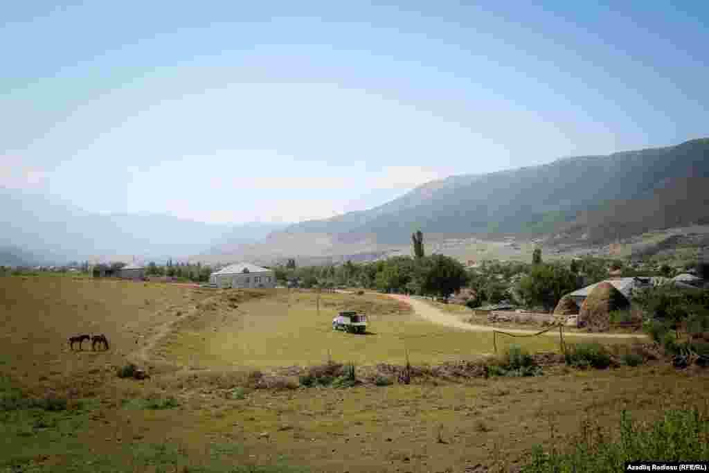 Qusarın Suvacal kəndinin bir hissəsinin görünüşü
