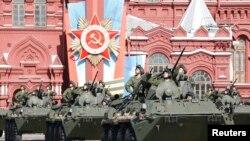 Военный парад на Красной площади в Москве 9 мая 2014 года