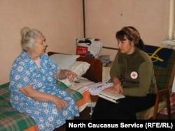 Помощь одиноким пожилым людям. Чечня, 2002 год