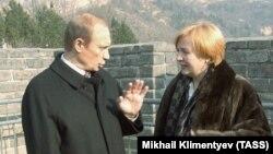 Владимир Путин с супругой Людмилой. 2002 год.