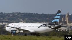 Afriqiyah Airways әуе компаниясының қарулы екі адам басып алған ұшағы. Мальта, 23 желтоқсан 2016 жыл.