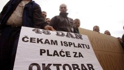 Protest bh. radnika, fotoarhiv