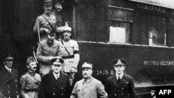 Падпісаньне перамір'я ў Першай сусьветнай вайны, Францыя, Камп'енскі лес, 11 лістапада 1918