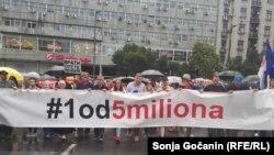 Protest u Beogradu, 13. jul