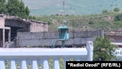 The outside of a maximum-security prison in Tajikistan.