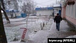Снег в Феодосии, 20 декабря 2020 года