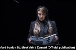 مژده شمسایی در اجرای مارس ۲۰۱۸ نمایش چهارراه
