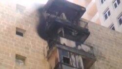 Yasamalda binada yanğın söndürüldü
