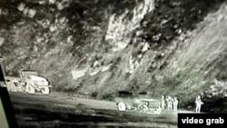 Таджикистанские военнослужащие и военная техника. Фото предоставлено Погранслужбой ГКНБ Кыргызстана.