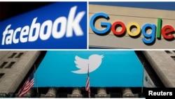 Твитер, Гугл, Фејсбук