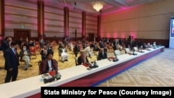 شماری از اعضای هیئت مذاکره کننده دولت افغانستان