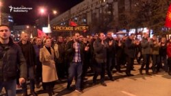 Protesters In Skopje March Against Macedonia Name Change