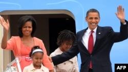ABŞ-niň prezidenti Barak Obama, aýaly Mişel we gyzlary Saşa we Malia 6-njy iýulda Moskwa bardylar.