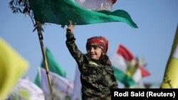 Türkiyənin Afrin əməliyyatına etiraz aksiyasından foto, 30 yanvar, 2018-ci il
