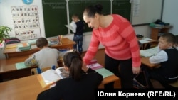 Людмила Ганенко ведет урок
