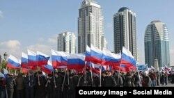 Празднование «Дня народного единства» в Грозном, 4 ноября 2016 года