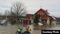 The flooding is close to the Bulgarian border