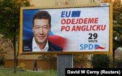 Передвиборча агітація партії «Свобода і пряма демократія» Томіо Окамури в Празі, 18 жовтня 2017 року