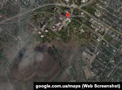 Шахта «Юнком» и террикон от нее на Google-картах
