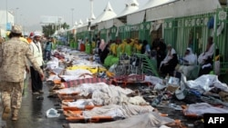Iran says that at least 460 Iranians were killed in a stampede at the hajj in Mecca last year. (file photo)