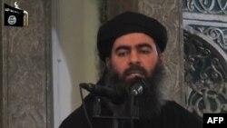 """Абу Бакр әл-Бағдади, """"Ислам мемлекеті"""" ұйымының жетекшісі."""