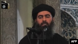 The leader of the Islamic State (IS) jihadist group, Abu Bakr al-Baghdadi, (file photo).