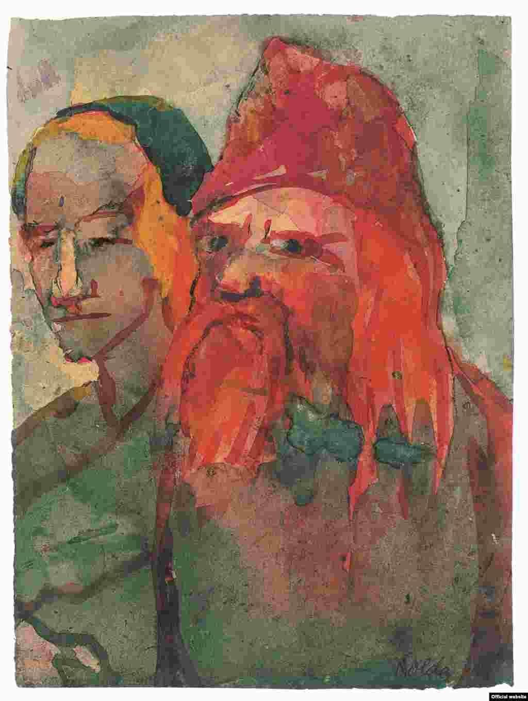 Emil Nolde, Pereche de țărani în vîrstă (ca. 1942).