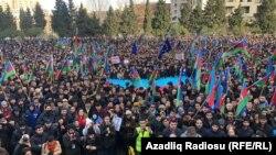 Бакудегі оппозиция өкілдерінің митингісі. 19 қаңтар 2019 жыл