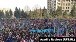 Bakıda müxalifət qüvvələrinin 19 yanvar mitinqi
