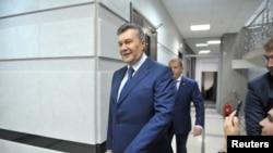 Бывший президент Украины Виктор Янукович (на переднем плане).
