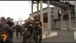 Взрыв в шахте в Донецке