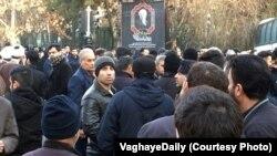 Әли Акбар Хашеми Рафсанжанимен қоштасуға жиналған ирандықтар. Тегеран, 10 қаңтар 2017 жыл.