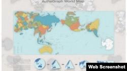 """Kako je ocenila japanska komisija, mapa """"verno predstavlja sve okeane i kontinente, uključujući i zapostavljeni Antarktik""""."""