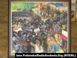 """""""Вот вам Европа!"""" Картина художницы и активистки Майдана Марины Соченко"""