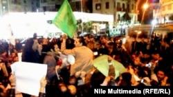 Акция протеста египетских христиан против взрыва у коптской церкви