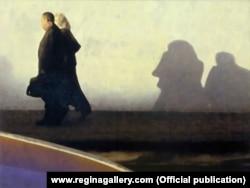 """Репродукция картины Семена Файбисовича из цикла """"Однажды на рассвете"""", 2011 год"""