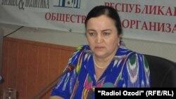 Идигул Қосимзода, раиси Кумитаи кор бо занон ва оилаи Тоҷикистон.