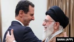 Iranian Supreme Leader Ayatollah Ali Khamenei (R) meets with Syrian President Bashar al-Assad in Tehran, February 25, 2019