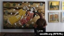 Народный художник Узбекистана Гафуржон Кодиров в своей мастерской. Ташкент, 26 июля 2011 года.
